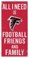 """Atlanta Falcons 6"""" x 12"""" Friends & Family Sign"""