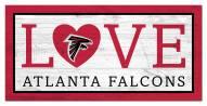 "Atlanta Falcons 6"" x 12"" Love Sign"