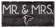 "Atlanta Falcons 6"" x 12"" Mr. & Mrs. Sign"