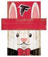"""Atlanta Falcons 6"""" x 5"""" Easter Bunny Head"""