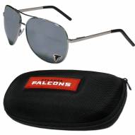 Atlanta Falcons Aviator Sunglasses and Zippered Carrying Case