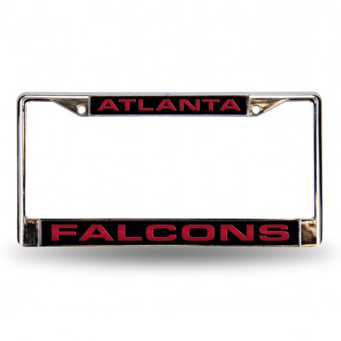 Atlanta Falcons Black Laser Chrome License Plate Frame