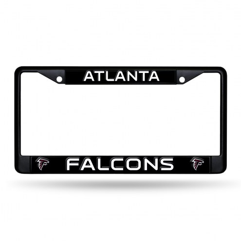Atlanta Falcons Black Metal License Plate Frame