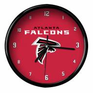 Atlanta Falcons Black Rim Clock