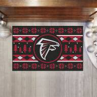 Atlanta Falcons Christmas Sweater Starter Rug