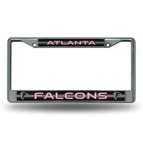 Atlanta Falcons Chrome Glitter License Plate Frame