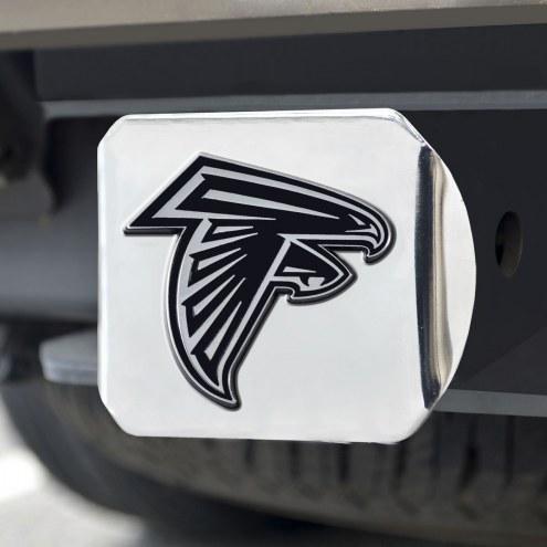 Atlanta Falcons Chrome Metal Hitch Cover