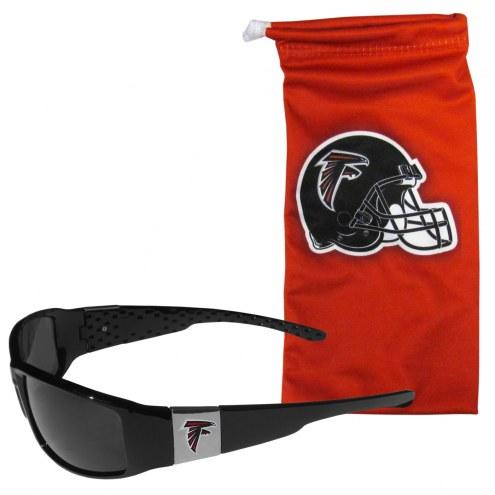Atlanta Falcons Chrome Wrap Sunglasses & Bag