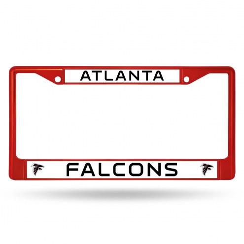 Atlanta Falcons Color Metal License Plate Frame