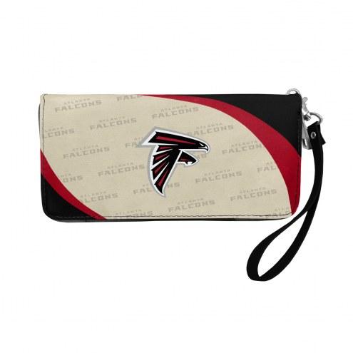 Atlanta Falcons Curve Zip Organizer Wallet