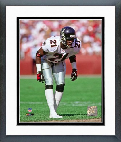 Atlanta Falcons Deion Sanders 1991 Action Framed Photo
