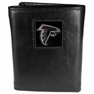 Atlanta Falcons Deluxe Leather Tri-fold Wallet in Gift Box