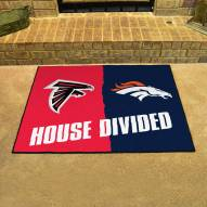 Atlanta Falcons/Denver Broncos House Divided Mat