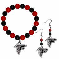 Atlanta Falcons Fan Bead Earrings & Bracelet Set