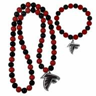Atlanta Falcons Fan Bead Necklace & Bracelet Set