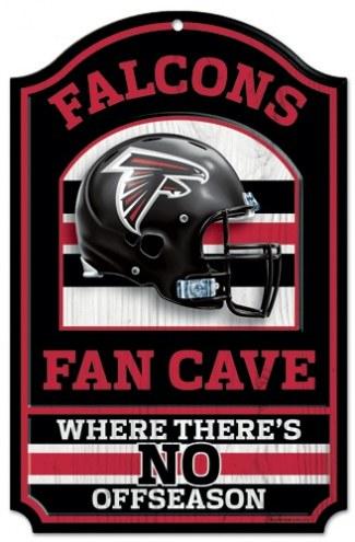 Atlanta Falcons Fan Cave Wood Sign