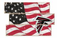 Atlanta Falcons Flag 3 Plank Sign