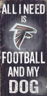 Atlanta Falcons Football & Dog Wood Sign