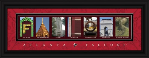 Atlanta Falcons Framed Letter Art