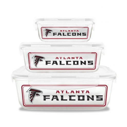 Atlanta Falcons Glass Food Container Set
