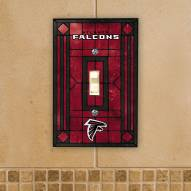 Atlanta Falcons Glass Single Light Switch Plate Cover