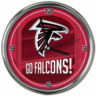 Atlanta Falcons Go Team Chrome Clock