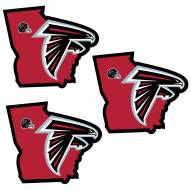 Atlanta Falcons Home State Decal - 3 Pack