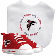 Atlanta Falcons Infant Bib & Shoes Gift Set