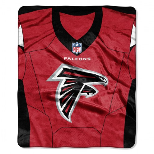 Atlanta Falcons Jersey Raschel Throw Blanket