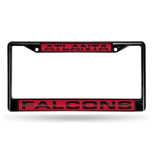 Atlanta Falcons Laser Black License Plate Frame