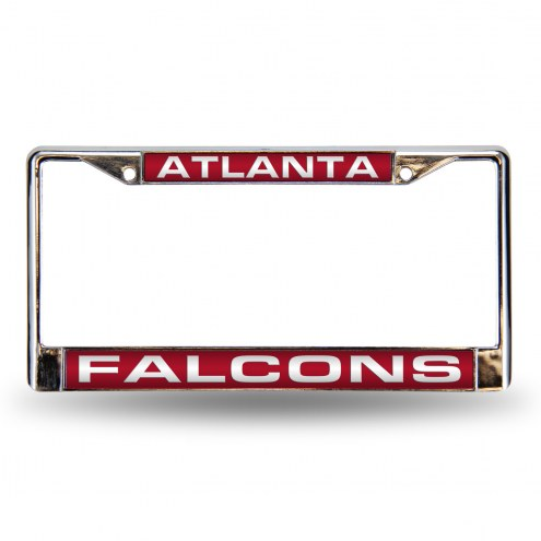 Atlanta Falcons Laser Chrome License Plate Frame