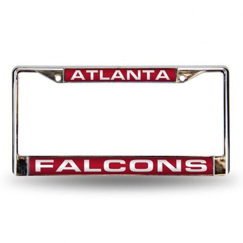 Atlanta Falcons Laser Chrome License Plate Frame
