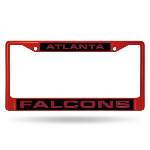 Atlanta Falcons Laser Colored Chrome License Plate Frame