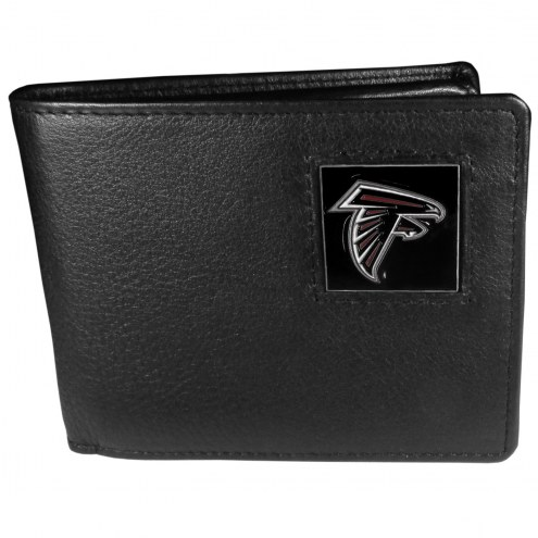 Atlanta Falcons Leather Bi-fold Wallet in Gift Box
