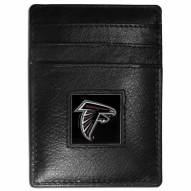 Atlanta Falcons Leather Money Clip/Cardholder in Gift Box