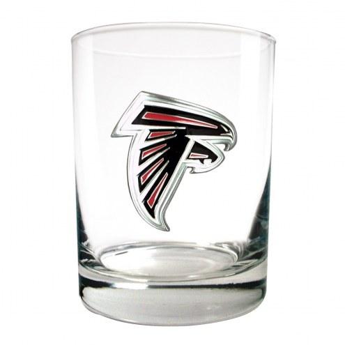 Atlanta Falcons Logo Rocks Glass - Set of 2