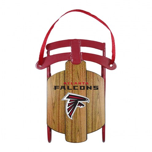 Atlanta Falcons Metal Sled Tree Ornament