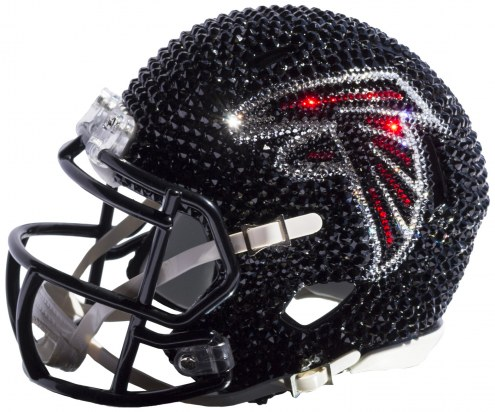 Atlanta Falcons Mini Swarovski Crystal Football Helmet