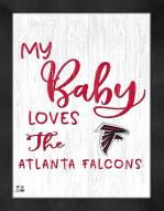 Atlanta Falcons My Baby Loves Framed Print