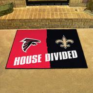 Atlanta Falcons/New Orleans Saints House Divided Mat