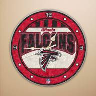 Atlanta Falcons NFL Stained Glass Wall Clock