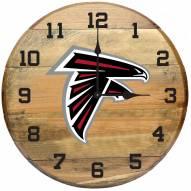 Atlanta Falcons Oak Barrel Clock