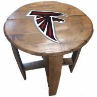 Atlanta Falcons Oak Barrel Table