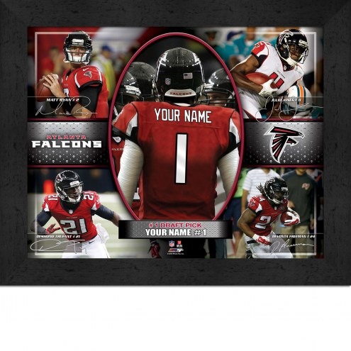 Atlanta Falcons Personalized 11 x 14 Framed Action Collage