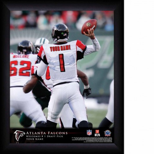 Atlanta Falcons Personalized 11 x 14 NFL Action QB Framed Print