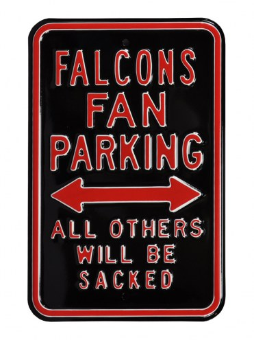 Atlanta Falcons Sacked Parking Sign
