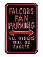 Atlanta Falcons Sacked Parking Sign