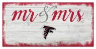 Atlanta Falcons Script Mr. & Mrs. Sign