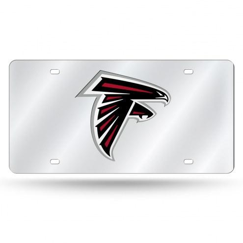 Atlanta Falcons Silver Laser Cut License Plate