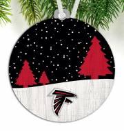 Atlanta Falcons Snow Scene Ornament
